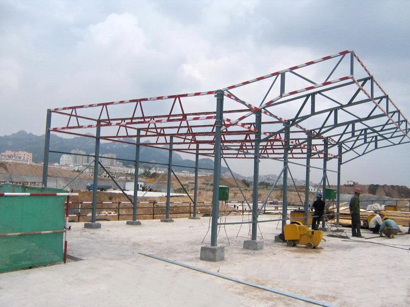 建筑防护棚 木工防护棚 钢筋工防护棚 小型机械防护棚